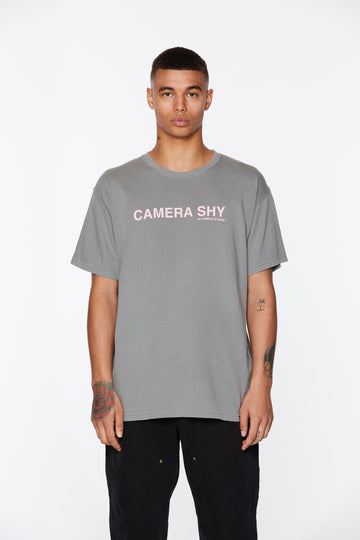 Gray Camera Shy Cancer Awareness T-Shirt