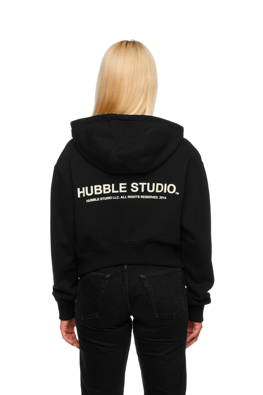 Camera Shy Femme Cropped Hoodie