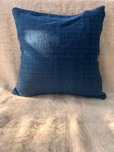 Indigo Sheep Wool Cushion Cover