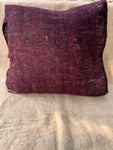 Deep Violet Sheep Wool Cushion with flaps