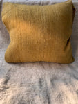 Ochre Sheep Wool Cushion Cover