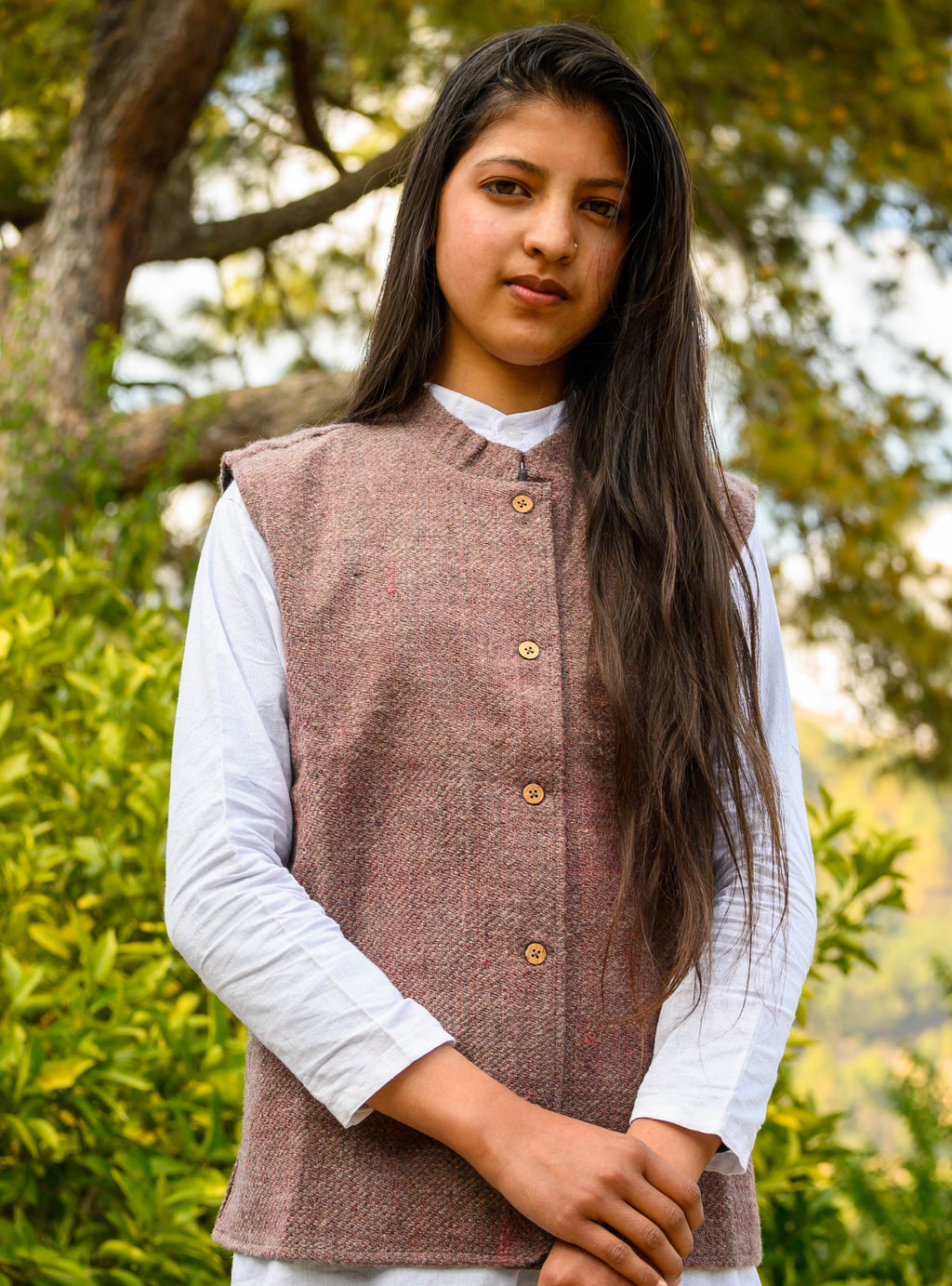 Brown Desi Sheep Wool Jacket
