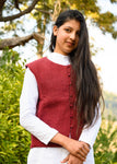 Lush Red Desi Sheep Wool Jacket