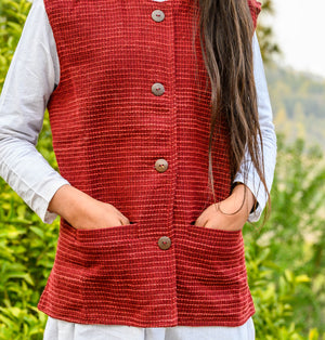Red Sheep Wool Jacket