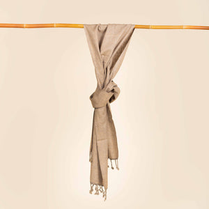 Light grey weft ribbed scarf SF006201