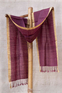 Purple Stole with Yellow border