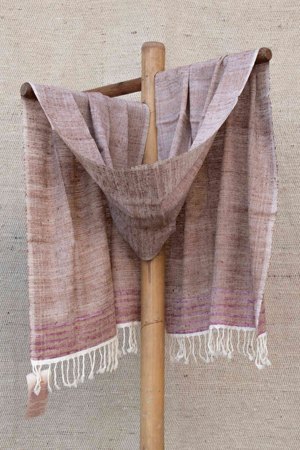 Red and White Stole with Lilac Stripes
