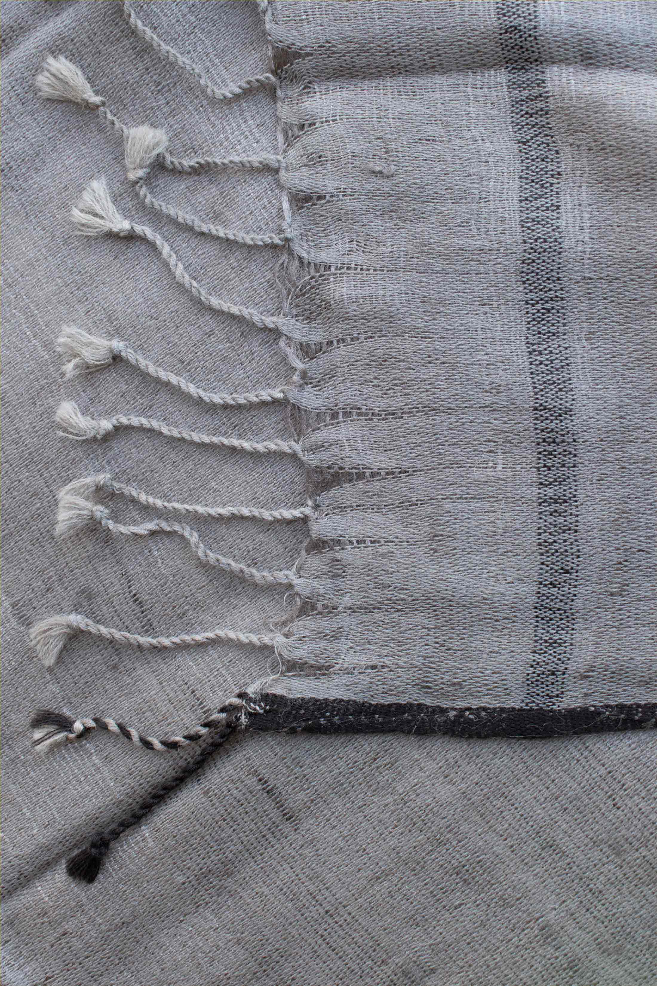 Grey Stole with Black border
