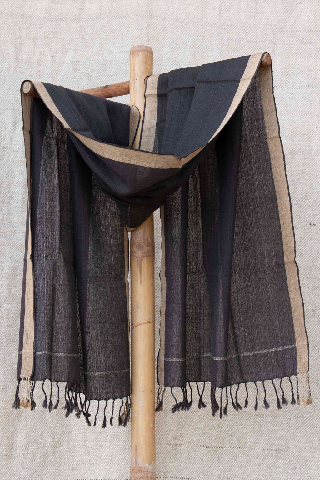 Black Stole with Gold border