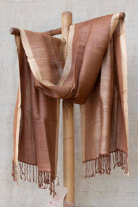 Brown and Golden Stole