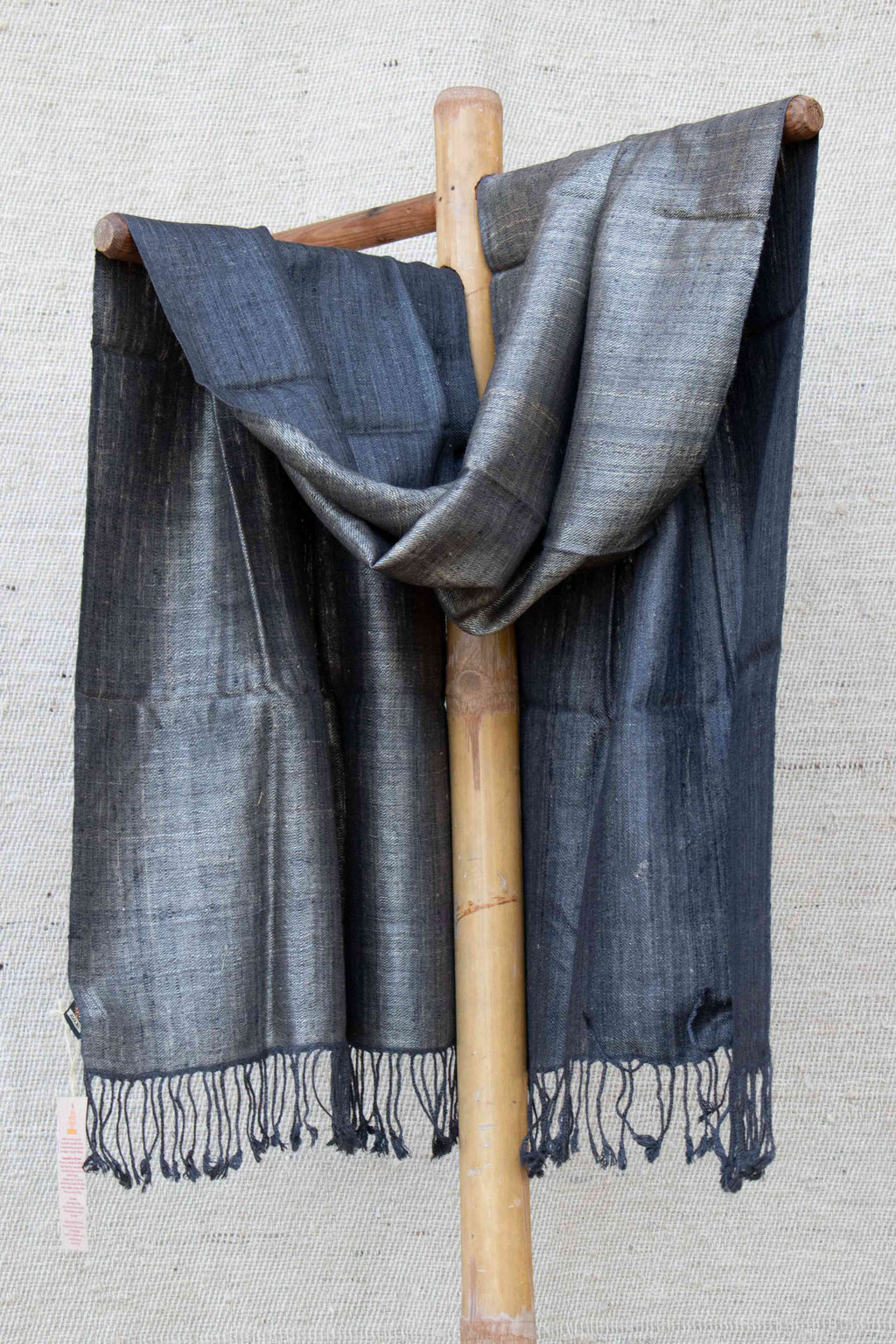 Reversible Dark Grey and Golden Stole