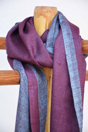 Purple and blue dual tone stole ST004432B