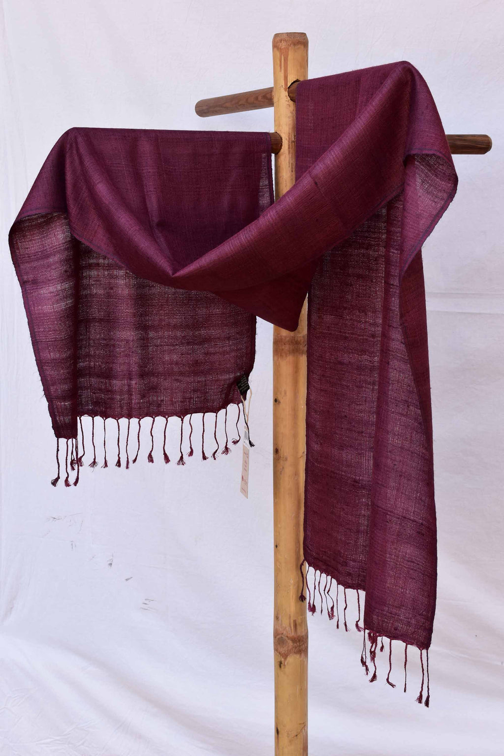 Solid maroon stole ST005122B