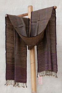 Purple and Green Stole with Orange Stripes
