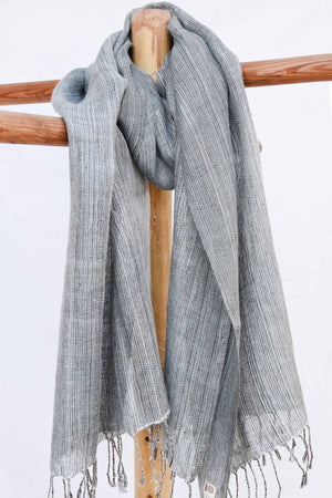 Spaced dye grey stole ST012666A