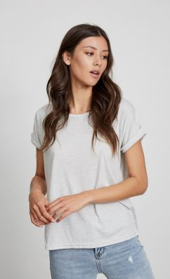 Little Lies - Roll Sleeve Tee (Cloud)
