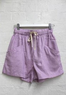 Little Lies - Luxe Shorts (Lilac)