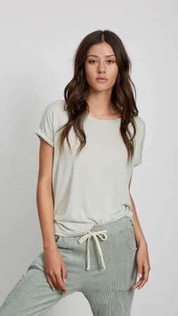 Little Lies - Roll Sleeve Tee (Mint)