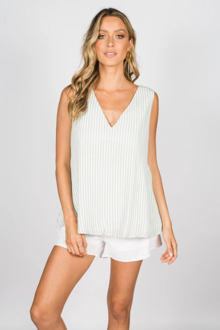 Girl and the Sun - Oasis Cami (Mint Stripe)