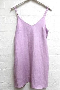 Little Lies - Piper Linen Slip Dress (Lilac)