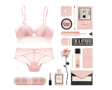 Sexy Bra &Briefs set Pink black
