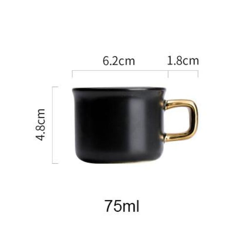 Black Golden Coffee Mug - 1