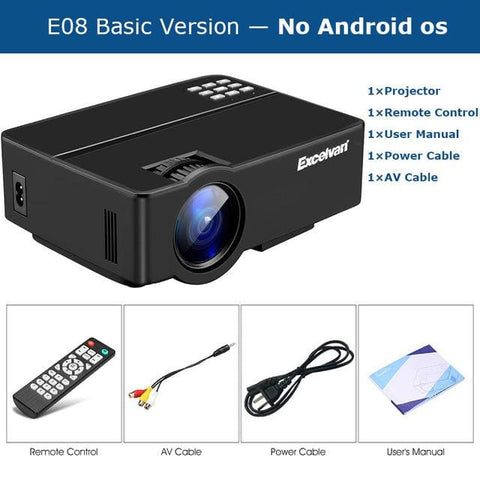 Lcd Projector Home Cinema 1080P - United States / E08 No Android