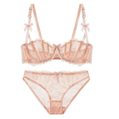 Ultrathin Lingerie Set - Pink / 70A