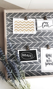 HERRINGBONE PHOTO BOARD