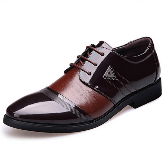 Men Flat Shoes Business Casual Look - Trendy Him