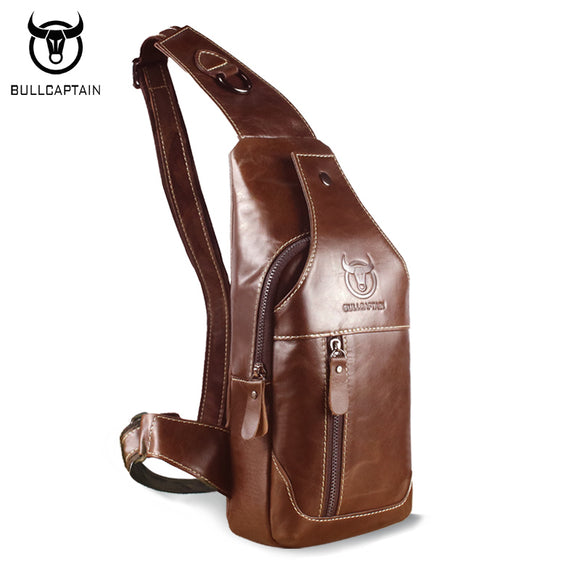 BULL CAPTAIN Brand Men's Leather Crossbody Bags - Trendy Him