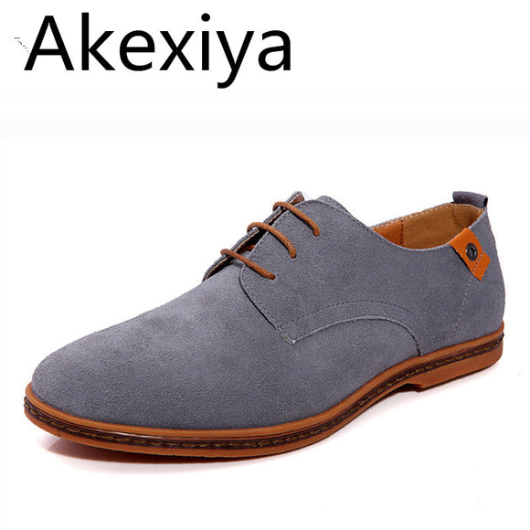 Akexiya Fashion Men Shoes Suede Leather Casual - Trendy Him