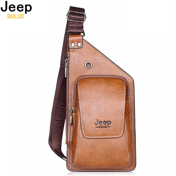 JEEP BULUO Brand Single Strap Shoulder Men Bags - Trendy Him