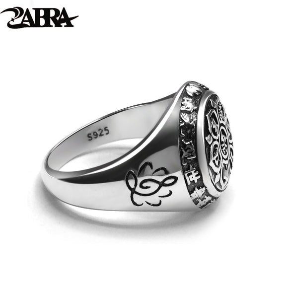 ZABRA Vintage Genuine 925 Sterling Silver Men's Ring - Trendy Him