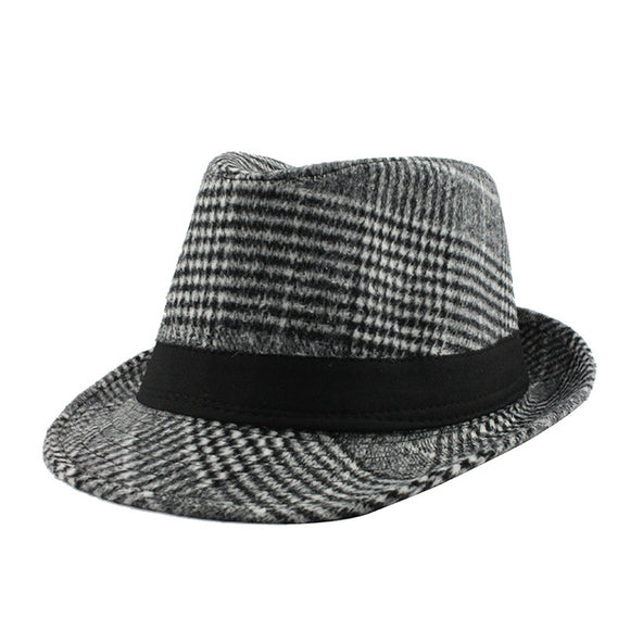 [FLB] Brand  Fashion Pure men men's jazz hat - Trendy Him