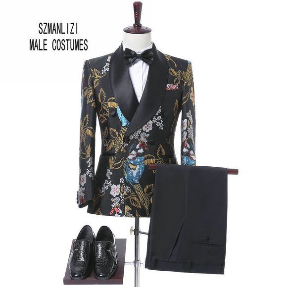 Elegant Brand  Mens Flower suit - Trendy Him