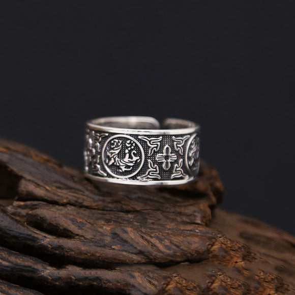 Opening Ring 100% Real 925 Sterling Silver - Trendy Him