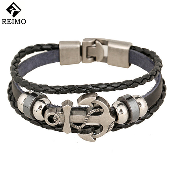 Fashion Jewelry Leather Men's Bracelets - Trendy Him