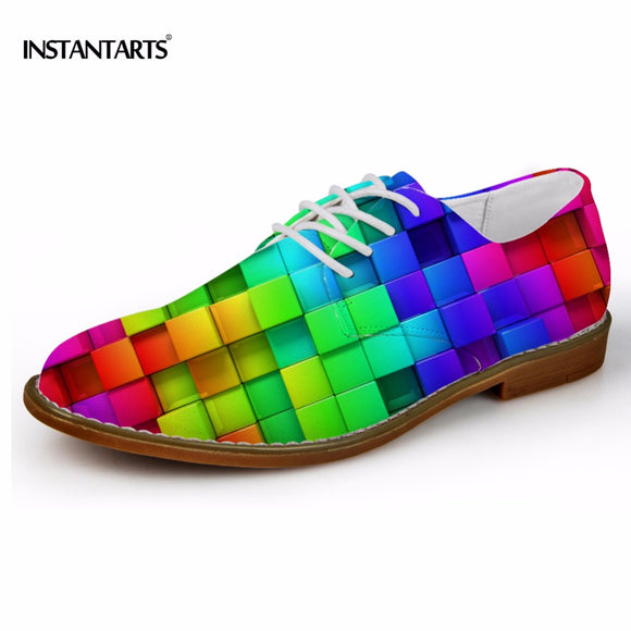 INSTANTARTS Men's Casual Shoes Mixed Color 3D Printing - Trendy Him