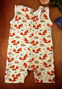 Summer Romper - Foxes