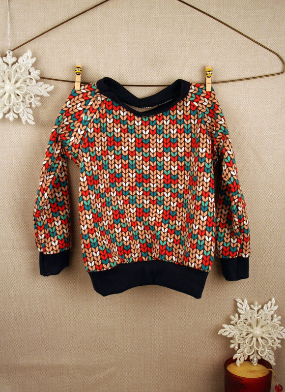 Sweater - Knit Print