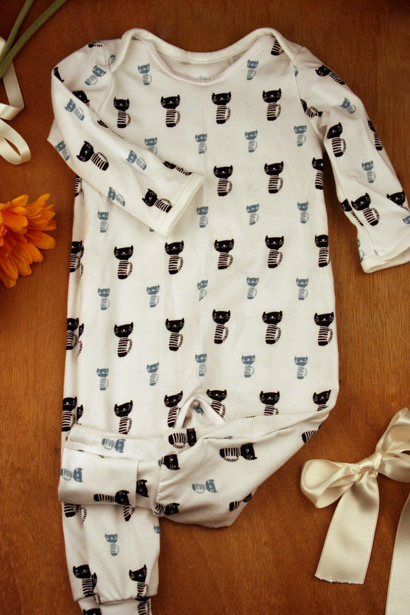 Onesie - Blue Cats