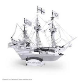 MetalEarth Silver Series - Golden Hind Ship