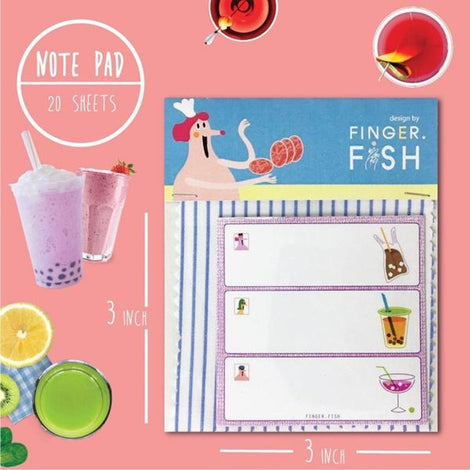 Notepad 20 sheets - Love Drinks