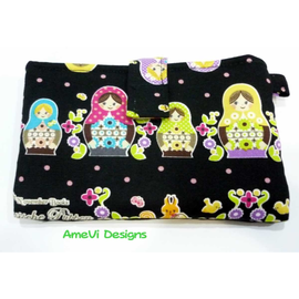 Small Black Russian Dolls Horizontal Velcro Handphone Case (Iphone/S2/S3)