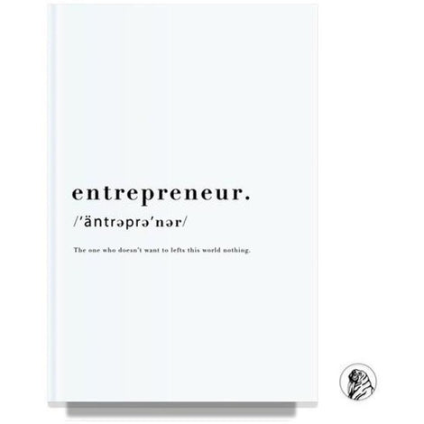 Entrepreneur White Notebook