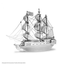 MetalEarth Silver Series - Black Pearl Ship