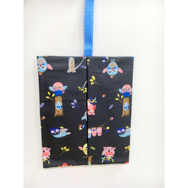 Owls in Black Waterproof Kleenex Travel Tissue Holder