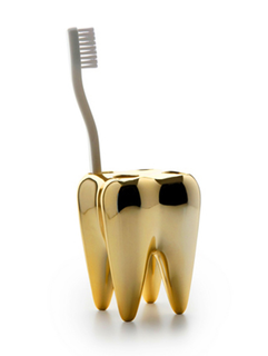 Golden Toothbrush Holder