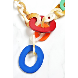MULTICOLOURED CHAINLINK NECKLACE